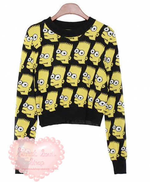 Sweet Soul Shop | Bart Simpson Crop Sweater   Skirt Set | Online Store Powered by Storenvy ($30.00) - Svpply
