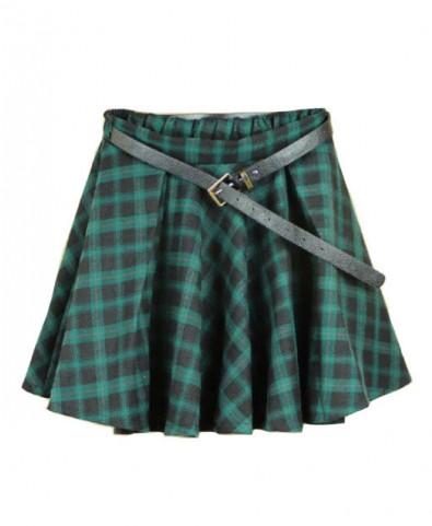 Preppy Style Plaid Mini Skirt - Skirts - Clothing
