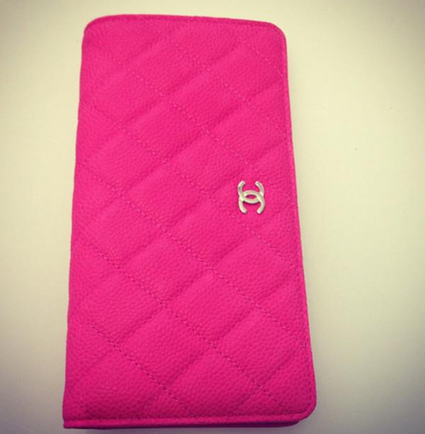 bag pink chanel walet clutch