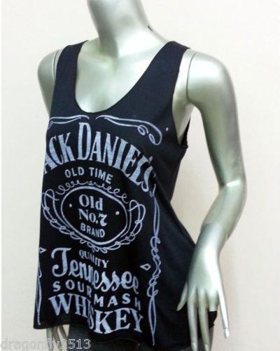 Tank Tops Jack Daniels Whiskey Sexy Tank Tops T Shirt Women Black Size s M   eBay