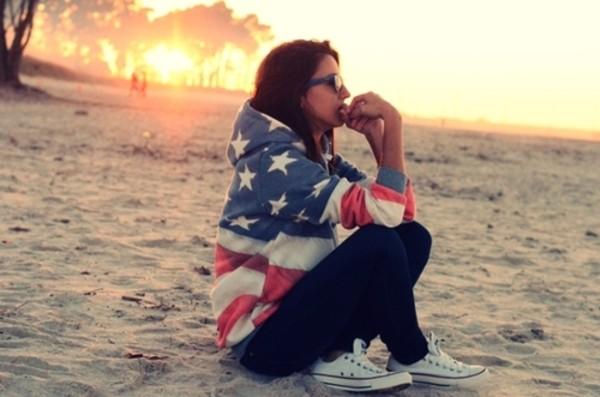 sweater flag usa hipster stars summer summer pants