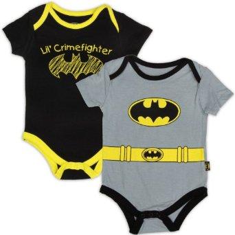Amazon.com: Batman Baby Boys Sizes 0-24 M Creeper Shirts 2 Pack: Clothing