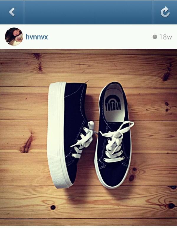 shoes hvnnvx black platform shoes white hipster goth hipster skater platform sneakers platform shoes white laces shoelaces finland