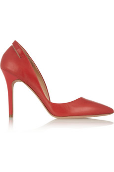 McQ Alexander McQueen Cutout pointed leather pumps - 49% Off Now at THE OUTNET