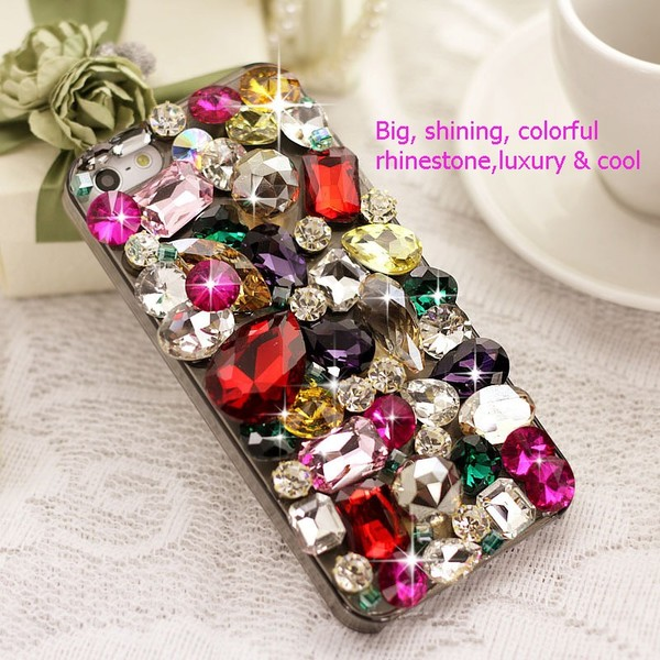 jewels gem diamonds iphone rhinestones iphone cover accessories jewelry iphone case phone cover fashion clothes