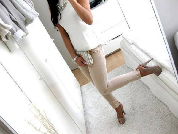 blouse jeans shoes shirt