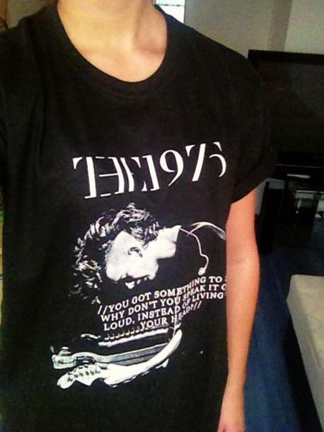 shirt mens t-shirt band merch black t-shirt