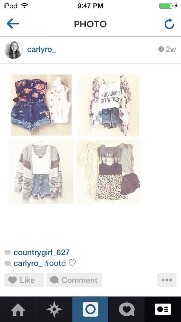 shirt shorts blouse