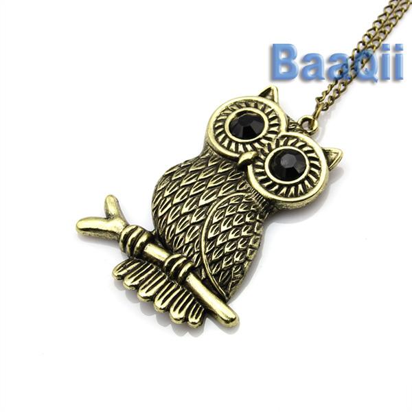 Vintage Girls Women Lady Owl woth Branch Pendant Long Necklace Chain JW027   eBay