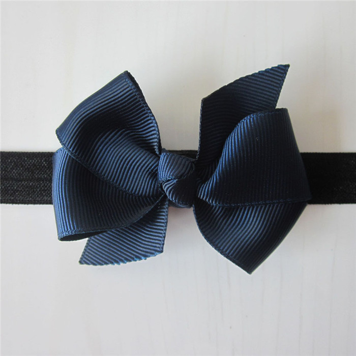 MOQ1set New Design Elastic Headband With solid Ribbon Bow Baby Hair Band Hair Accessory drop shipping Freeshipping FD078-in Hair Accessories from Apparel & Accessories on Aliexpress.com