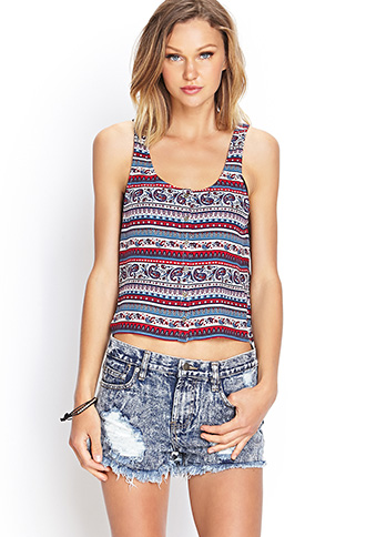 Striped Paisley Tank | FOREVER21 - 2000086273
