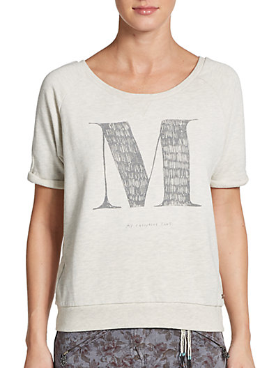 Maison Scotch - Short Sleeve Printed Sweatshirt - Saks.com