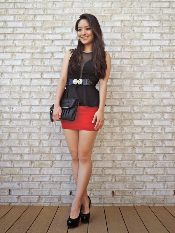 sensible stylista bag jewels skirt top belt shoes