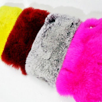 Multicolor Rabbit Fur Case for Iphone 4 4s 5 by trendcases on Etsy on Wanelo