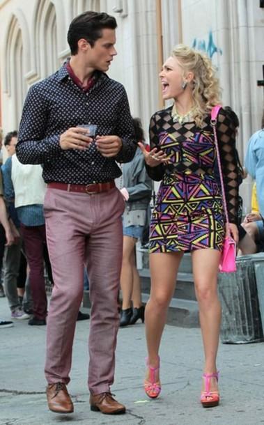 dress the carrie diaries carrie bradshaw neon dress clubwear vintage new york city