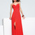 Cheap Red Column Sweetheart and Strap Open Back Floor Length Evening Dresses With Beading and Side Slit   online sale,fast shipping