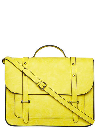 Yellow structured satchel bag - View All Accessories - Accessories - Dorothy Perkins