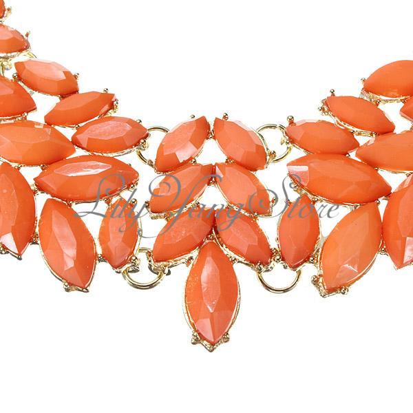Multi Layer Leaves Beads Gold Plated Pendant Bib Statement Necklace Jewellery   eBay