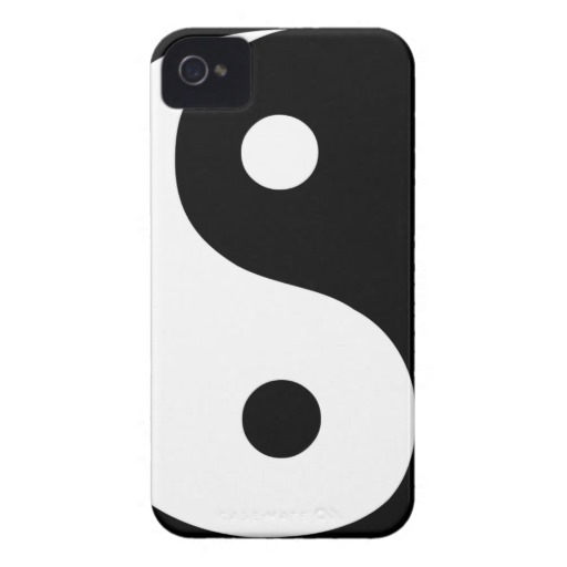 Yin Yang iPhone 4 Case-Mate Hülle von Zazzle.de