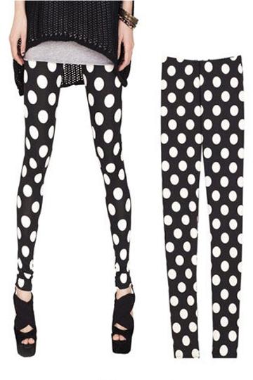 Cute Polka Dots Legging [FBBI00126]- US$10.99 - PersunMall.com