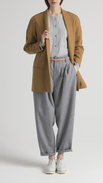 coat pants blouse