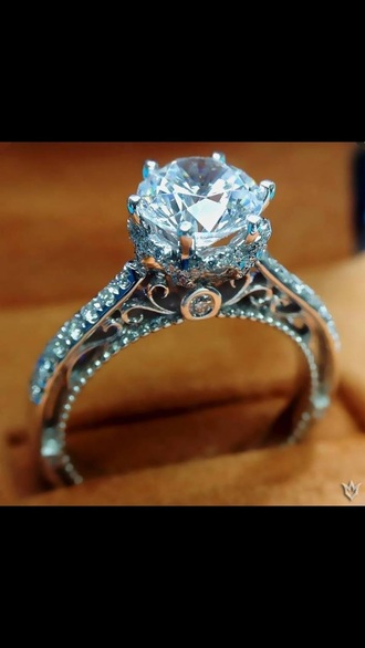 jewels silver ring diamonds engagement ring blue wedding accessory diamond ring