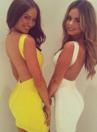 White Sexy Dress - Bqueen Sexy Strap Halter Bandage | UsTrendy
