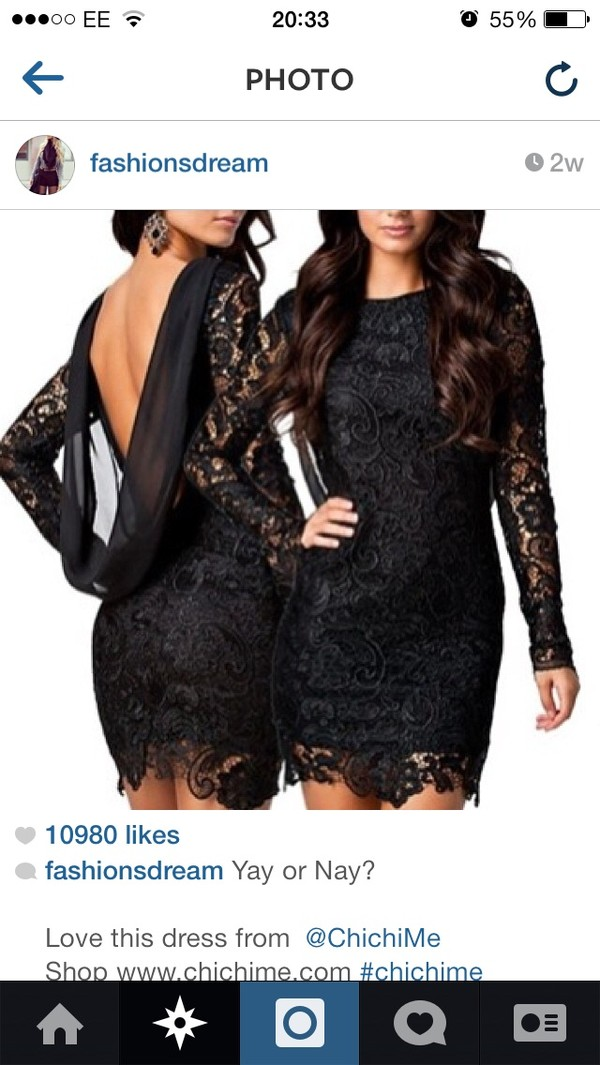 dress black lace dress short