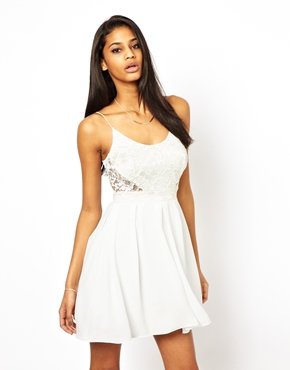 TFNC   TFNC Cami Dress With Lace Bodice at ASOS