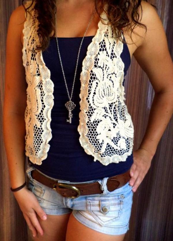 jacket vest lace blouse white lace top lace white shirt
