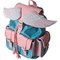 Lucid moxie › sid pink and blue winged backpack