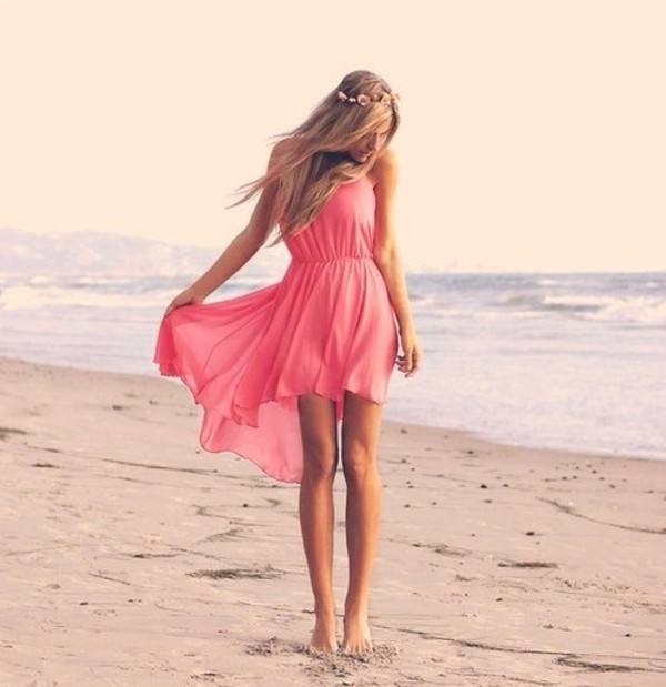 dress flowy dress pink pink dress summer dress summer