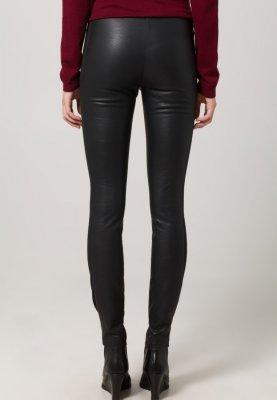 mint&berry Pantalon en cuir - noir - ZALANDO.FR