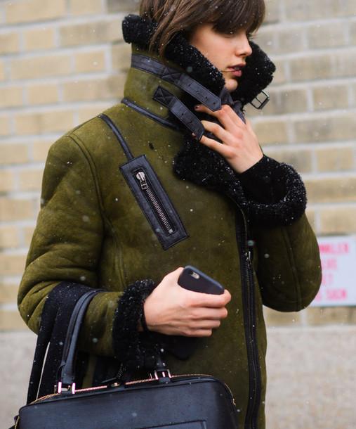 Lovely jacket, tumblr, nyfw 2017, fashion week 2017, fashion week  GL01