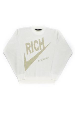 RICH KNIT CREW / OFF WHITE - JOYRICH Store