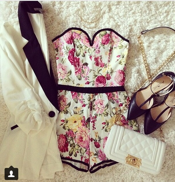 romper jacket bag shoes