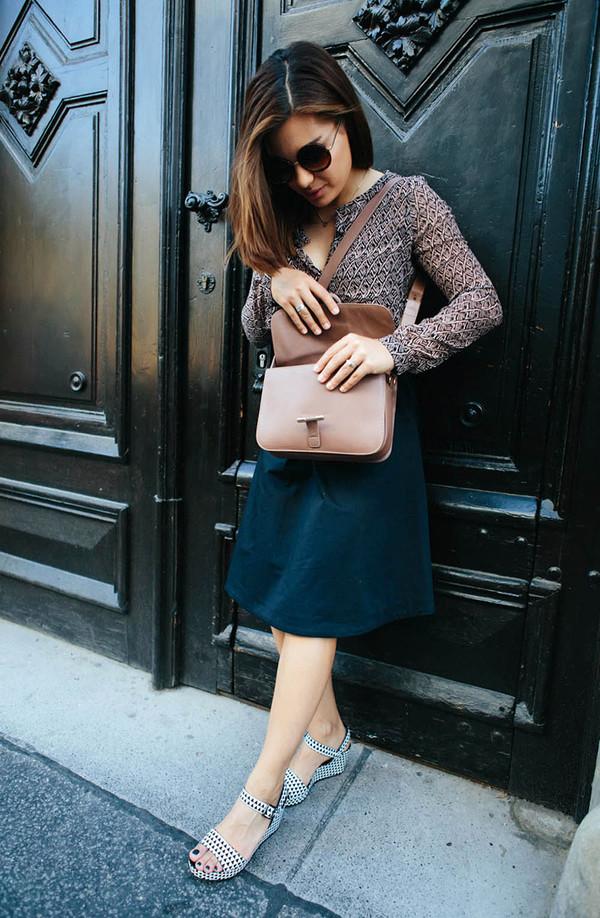 dariadaria shoes shirt skirt sunglasses bag