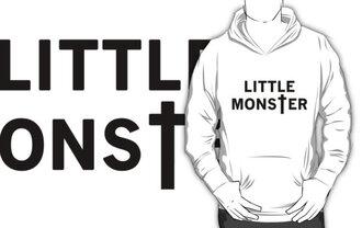 little monster white black ladygaga lady gaga pull sweater
