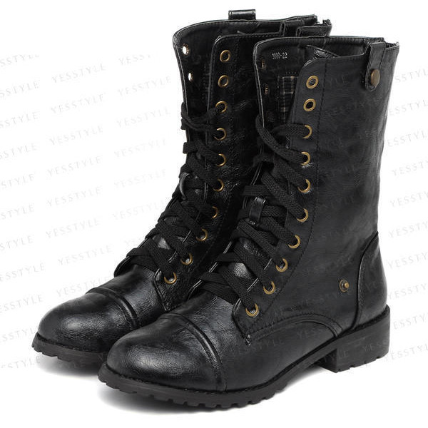 Lace-Up Boots - yeswalker - Polyvore