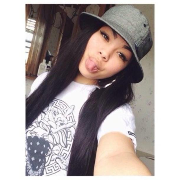 hat high4this bucket hat thug life bamboo earrings eyebrows on fleek asian beautiful