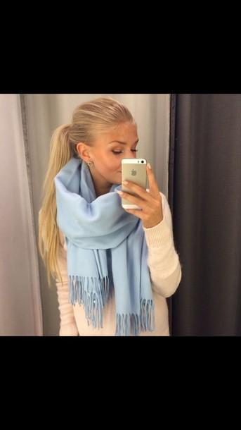 scarf blue scarf baby blue baby blue scarf light blue