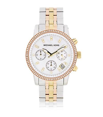 Michael Kors Ritz Chronograph Tricolour Watch | Harrods