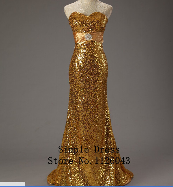 long evening dress long party dress evening dress 2014 party dress 2014 evening dress 2014 party dress elegant dress sequin dress gold evening dress gold sequins dress gold sequins dress