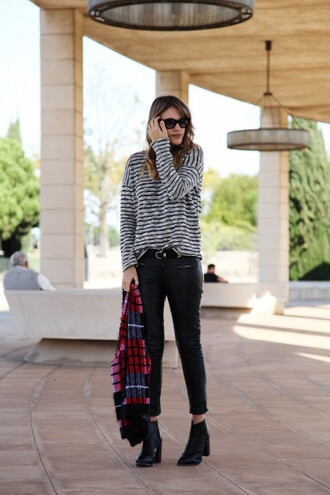 my daily style pants sweater t-shirt belt shoes bag sunglasses