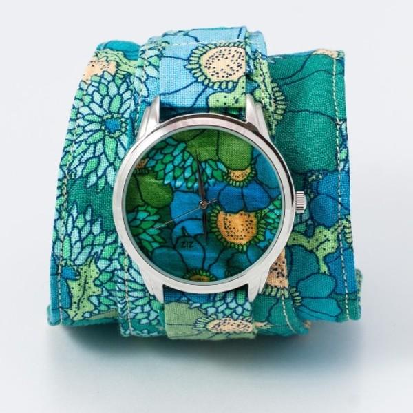 jewels ziziztime ziz watch watch watch blue flowers