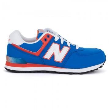 New Balance Boys 574 Blue Laced Sneakers | AlexandAlexa