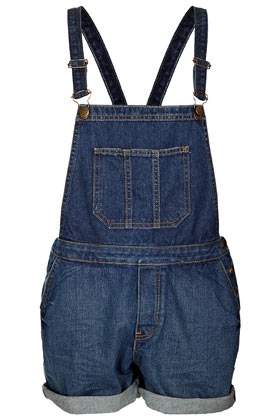 MOTO Vintage Denim Dungarees - Denim Dresses & Playsuits - Denim  - Clothing - Topshop USA