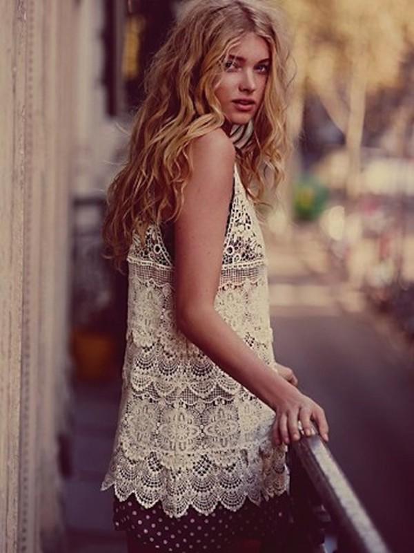dress clothes goodnight macaroon crochet tunic crochet crochet top beach summer dress lace top bohemian