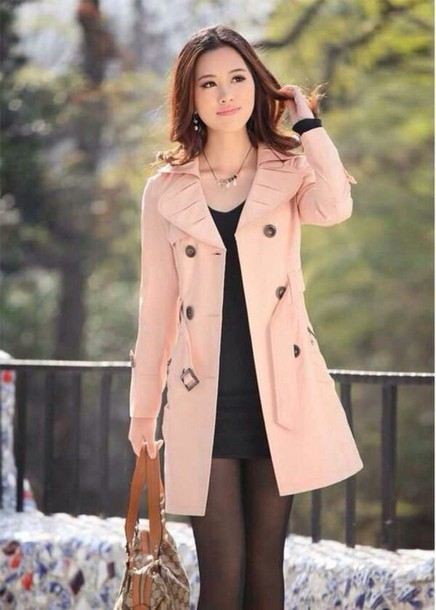 coat pink jacket belt