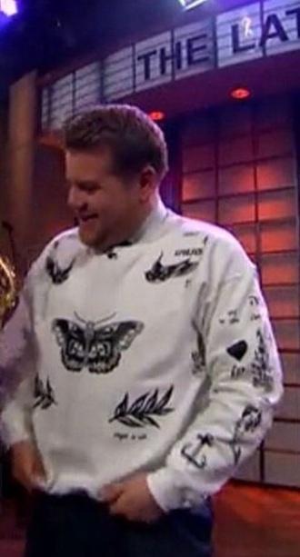 sweater white black cordon harry styles james harry styles harry styles sweater harry styles tattoo